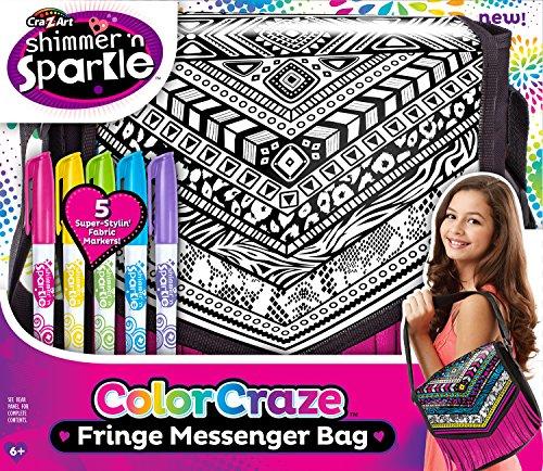 Cra Z Art Shimmer and Sparkle  Color Craze Fringe Messenger  Bag (Color Messenger Bag)