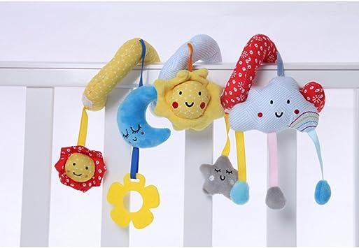 nuages//soleil//lune Colgando Berceau Hochet B/éb/é Berceau de jouet Newin Star spirale activit/és jouets du Poussette et lit