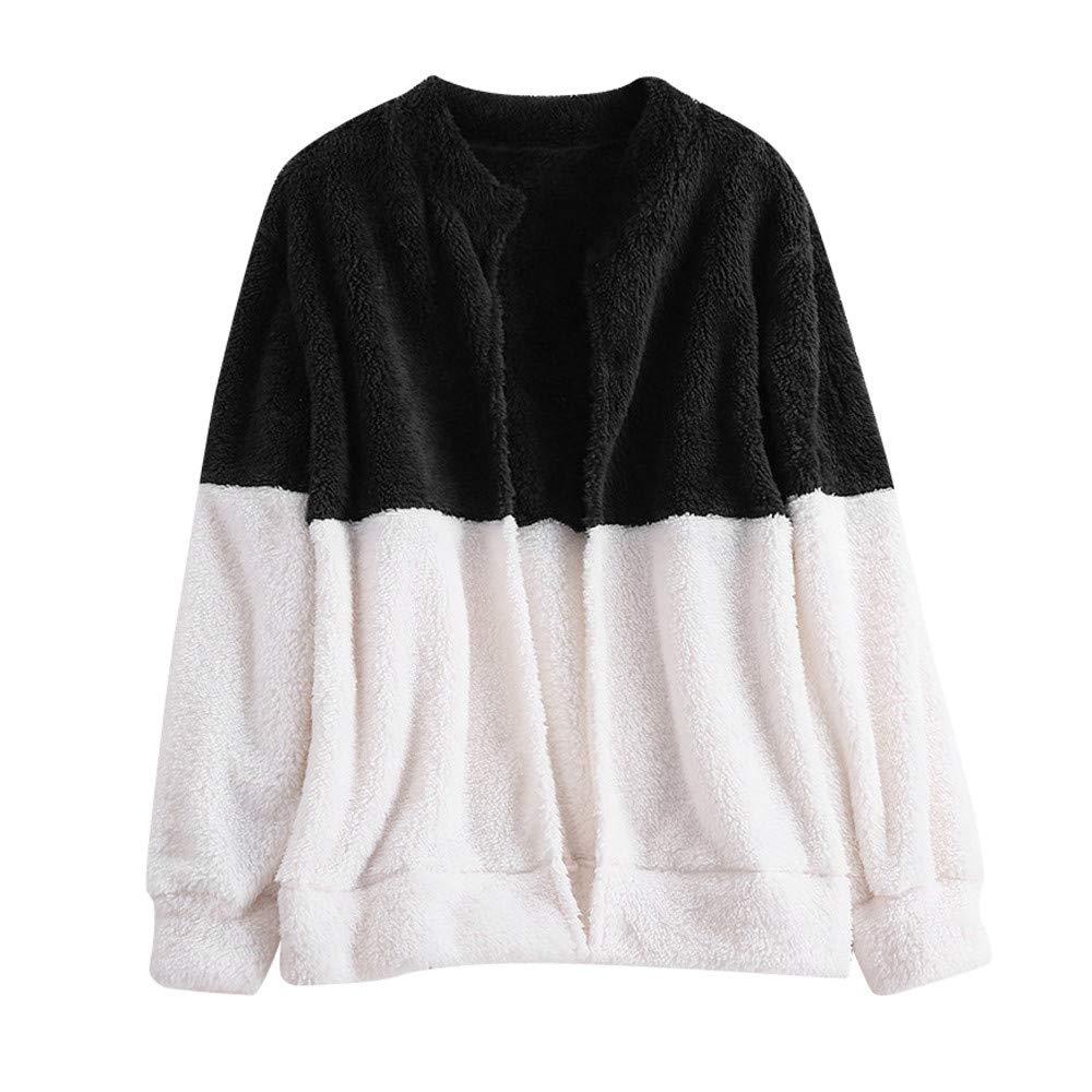 Tootu Womens Fluffy Coat Winter Jacket Cardigan Overcoat Outwear Jumper