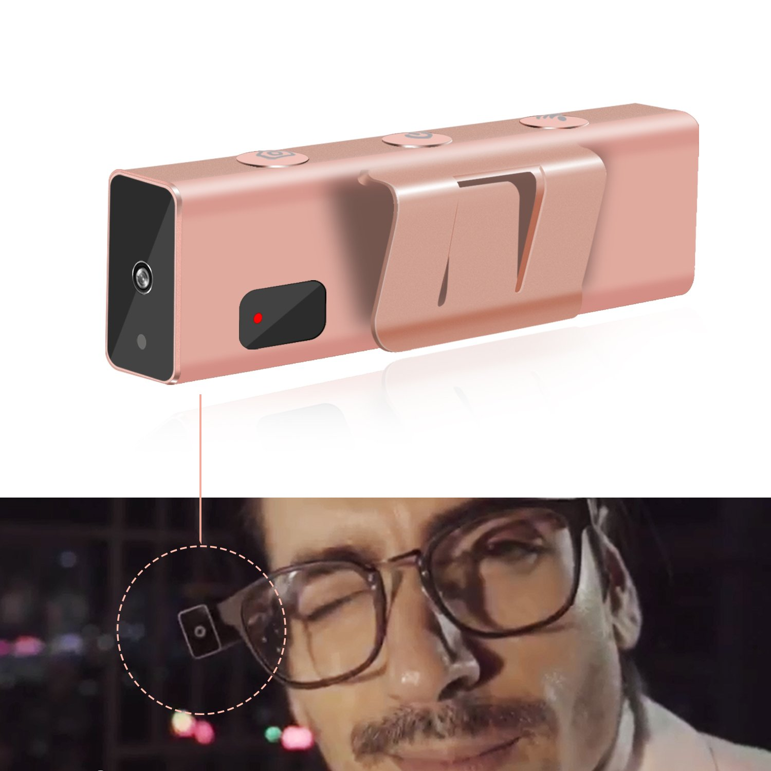 DONWELL Portable Smart Camera On Glasses Wireless Intelligent Wink Blink Induction Mini Video Recorder 8MP 1080P 16G Hands Free Electronics For Sport Travel Fashion Christmas Gift Birthday Present by DONWELL