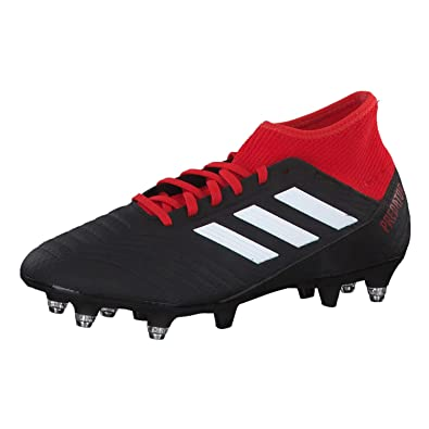 e4d47e843ee1 adidas Herren Predator 18.3 SG Fußballschuhe Schwarz (Negbás/Ftwbla/Rojo  001) 39