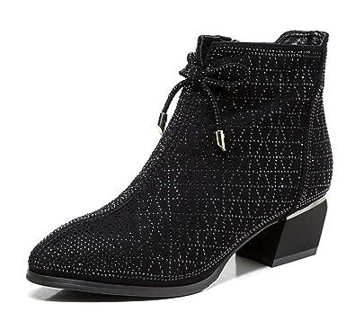 magasiner pour l'original chaussures authentiques complet dans les spécifications Shiney Femmes Bottes Mode Bottes Martin Talon Chunky ...