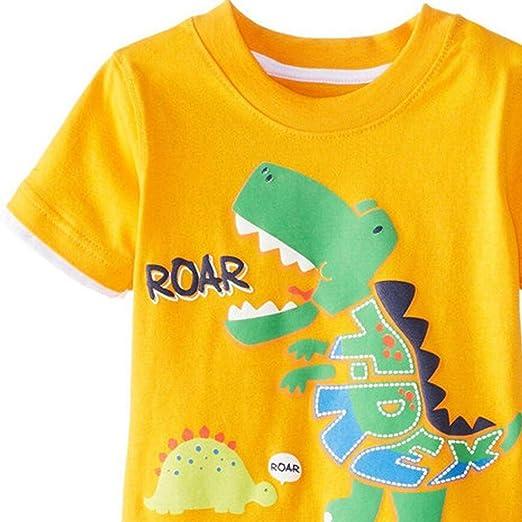 Topgrowth Vestiti Bambini Set Stampa del Fumetto Maglietta A Maniche Corte T Shirt Tops Pantaloncini Bimbo Shorts 2 PCS Outfits Set