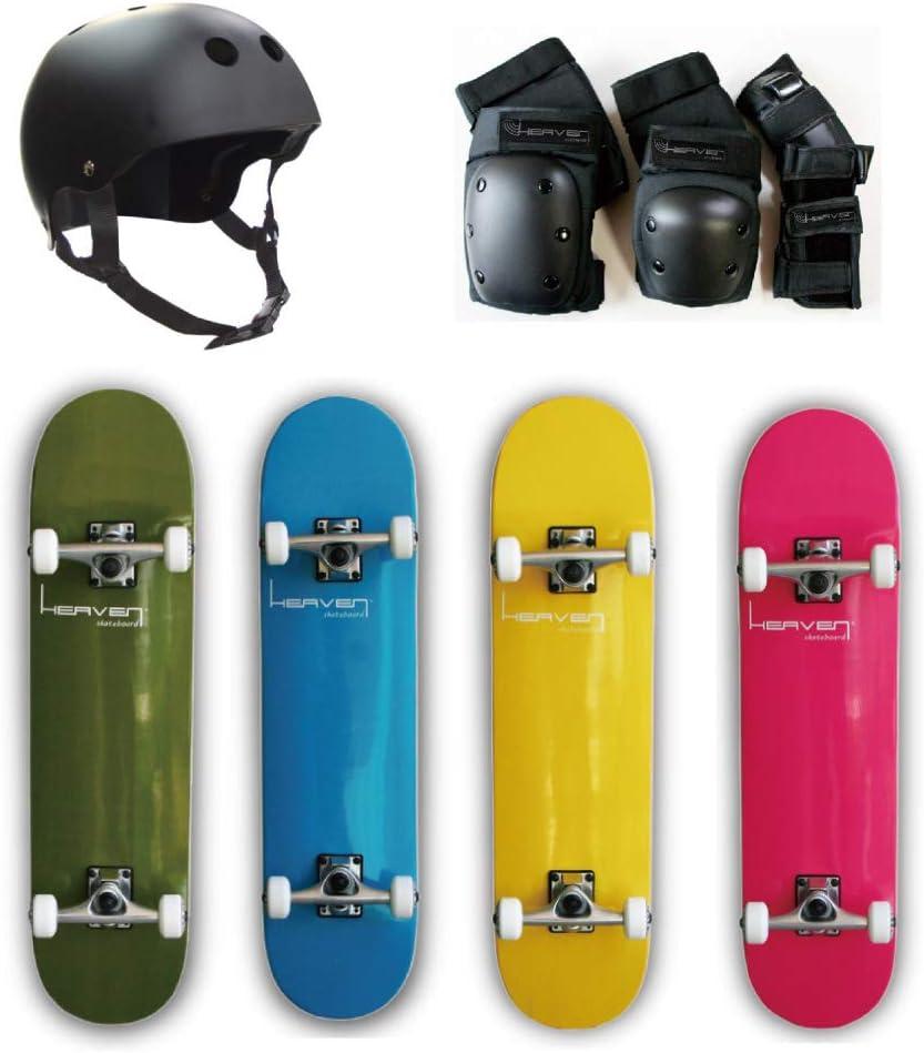 スケートボードとプロテクターの上達近道セット 今ならヘルメットプレゼント スケボーチャレンジを応援 デッキカラー:ピンク プロテクター3点セット:Sサイズ(ブラック)約40kgまで