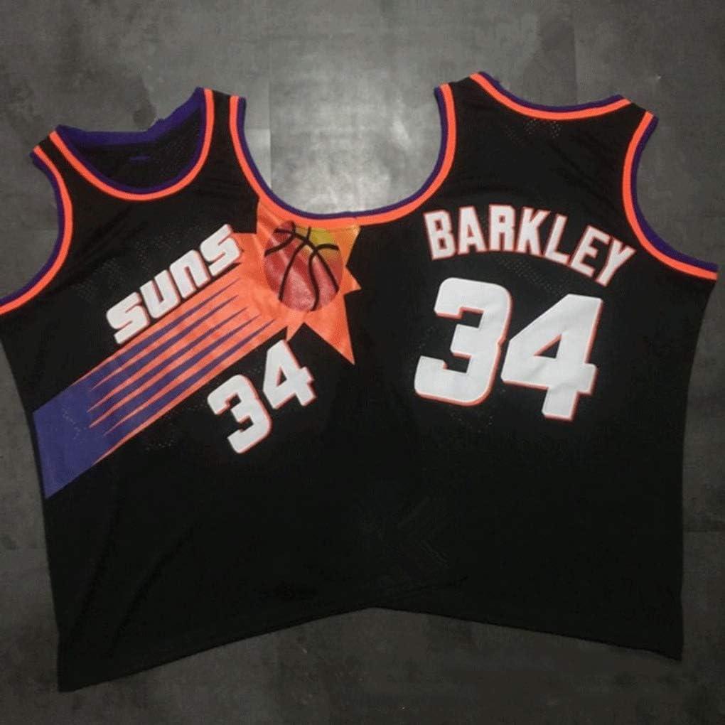 Phoenix Suns # 34 Charles Barkley Maillot DeBasket-Ball Gilet De Sport Jersey