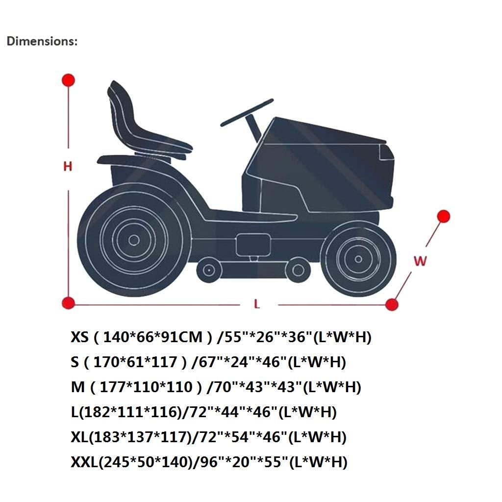 WGE Cubierta de cortacésped Impermeable Cubierta del Tractor ...