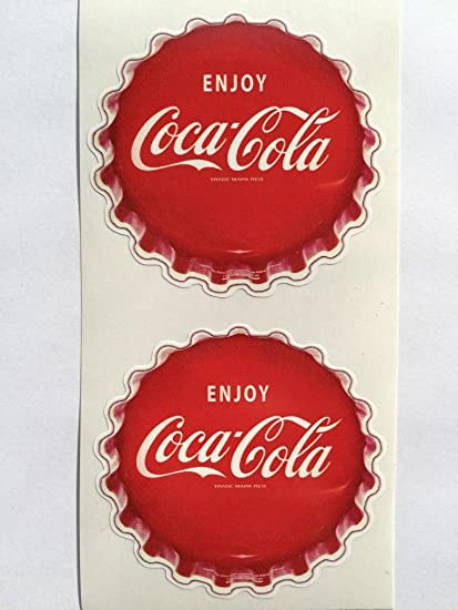 COCA COLA PEPSI COLA DECAL SODA CAP STICKER 6/""