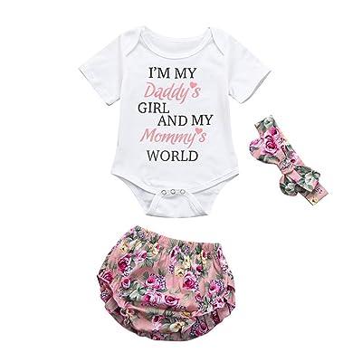3778ccc212a G-real 2pc Fashion Princess Outfits Newborn Baby Girls Letter Print Romper  T-Shirt Tops+ Flower Shorts+Headband Set