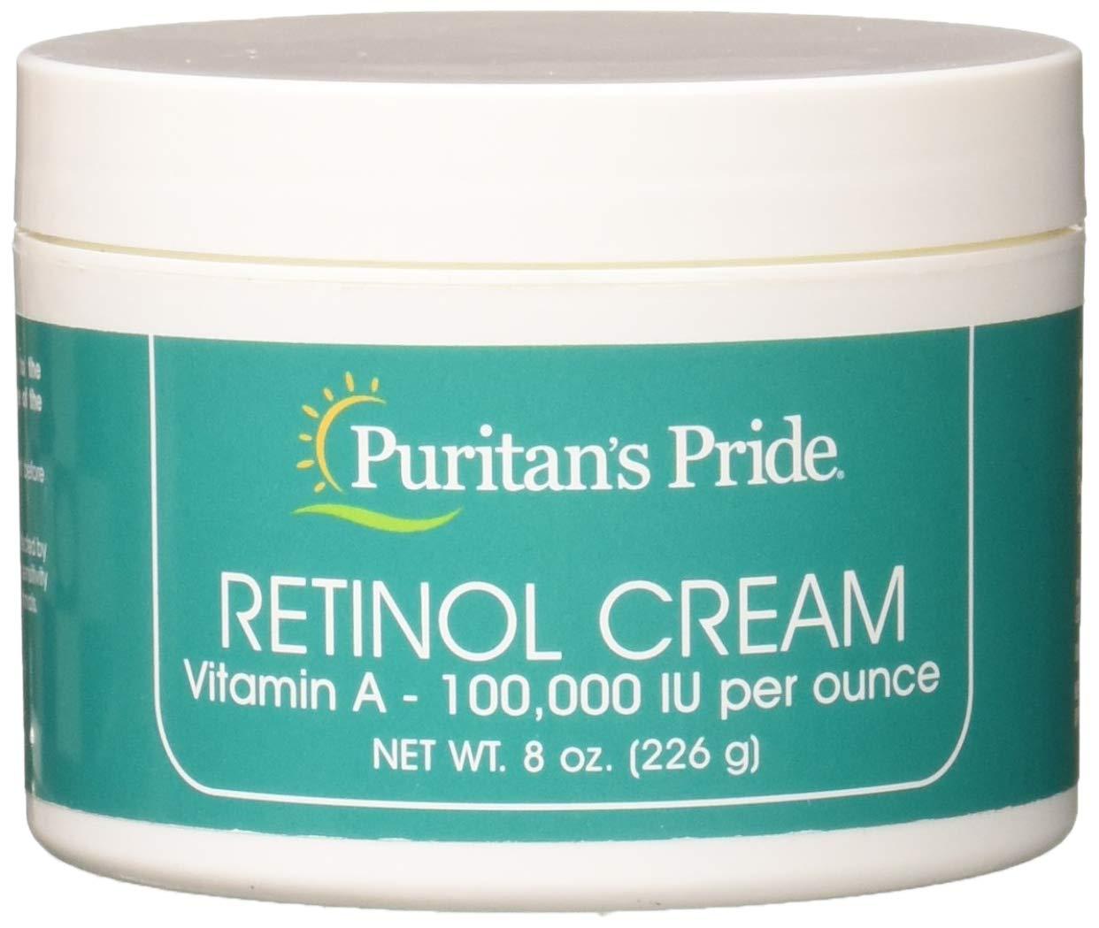 Puritans Pride Retinol Cream (Vitamin A 100,000 Iu Per Ounce), 8 Ounce by Puritan's Pride