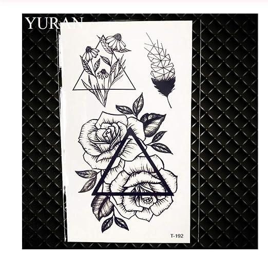 HYTGF Tatuaje Temporal Etiqueta engomada Black Stars Sky Moon Paw ...