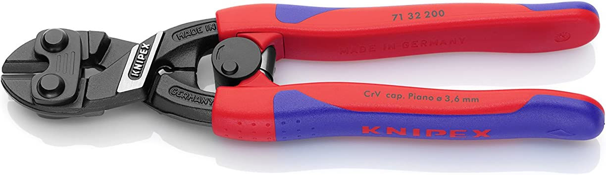 KNIPEX 71 12 200 SBA Comfort Grip High Leverage Cobolt Cutters with Spring