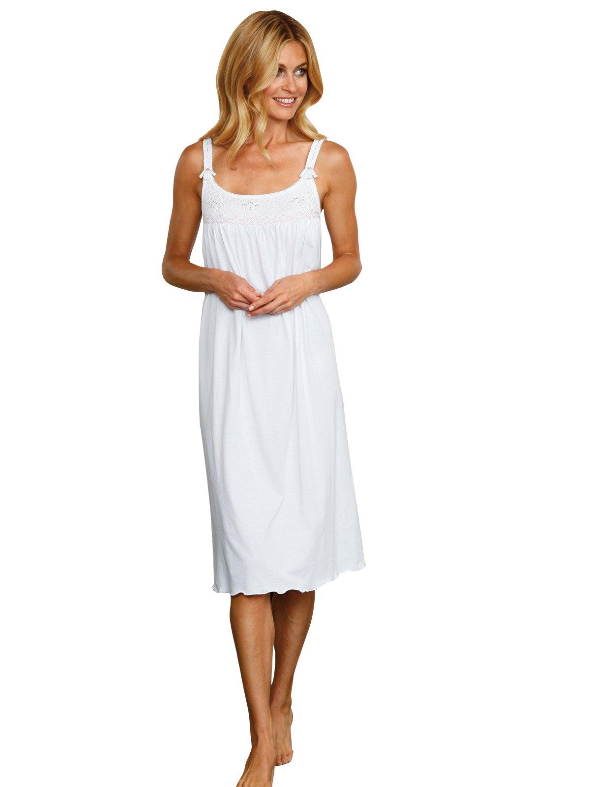 Schweitzer Linen Brady Nightgowns, Pink (Large) by Schweitzer Linen