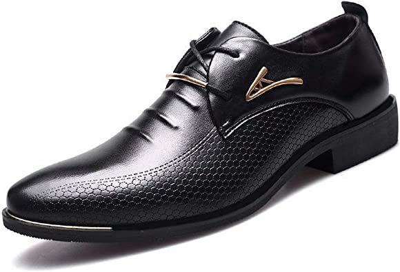 Luxury Man Pointed Toe Dress Shoes Mens
