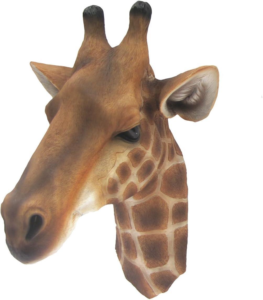 3D Life Size Wall Mount Giraffe Head Bust Childrens Kids Room Jungle Theme Decor