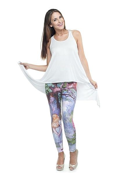 1399ad128a136 Kukubird Printed Patterns Women's Yoga Leggings Gym Fitness Running Pilates  Tights Skinny Pants Size 6-