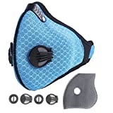 Kyпить Unigear Activated Carbon Dustproof/Dust Mask - with Extra Filter Cotton Sheet and Valves for Exhaust Gas, Pollen Allergy, PM2.5, Running, Cycling, Outdoor Activities на Amazon.com
