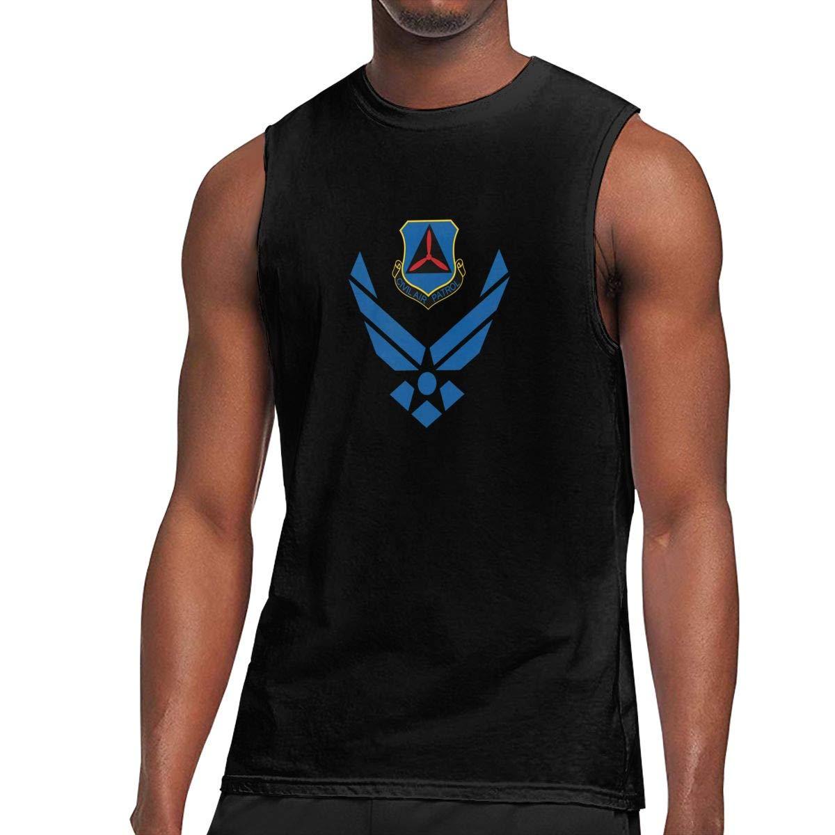 Cooltlong Civil Air Patrol U Man Handsome Sleeveless Classical Shirts