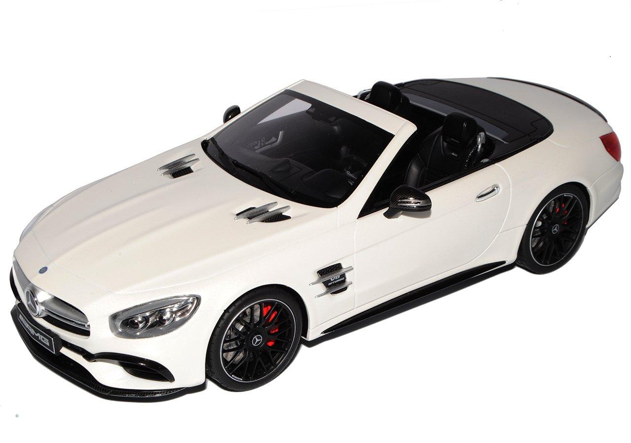 GT Spirit Mercedes-Benz SL-Klasse SL63 AMG R231 Cabrio Diamant Weißs Modell Ab 2012 Ab ModellpÃlege 2016 Nr B66965708 1 18 Modell Auto mit individiuellem Wunschkennzeichen  Mit Wunschkennzeichen