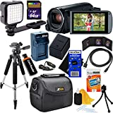 Canon VIXIA HF R82 Camcorder with Built-in Wi-Fi & 57x Advanced Zoom (International Version) + LED Light + Rechargeable Battery & AC/DC Charger + 10pc Bundle 64GB Accessory Kit w/ HeroFiber Cloth