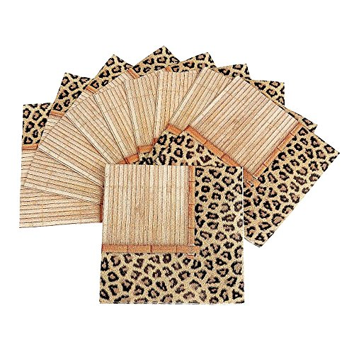 (Leopard Print - Bamboo Safari Cocktail Napkins)