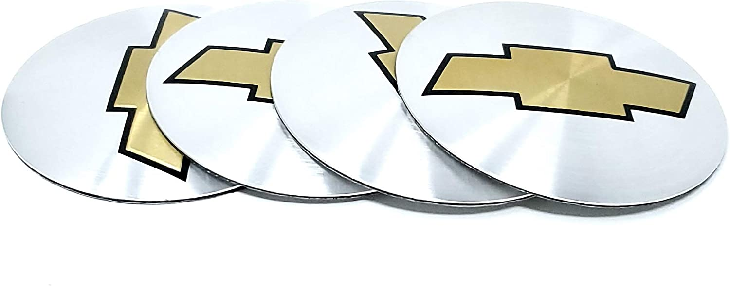 pack of 4 AMDCO 56MM CHROME SILVER For CHEVY sonic impala cruze Emblem Badge Stickers Decals with Strong 3M Includes instructions MEASURE Before Purchase Fitment Top Quality fit