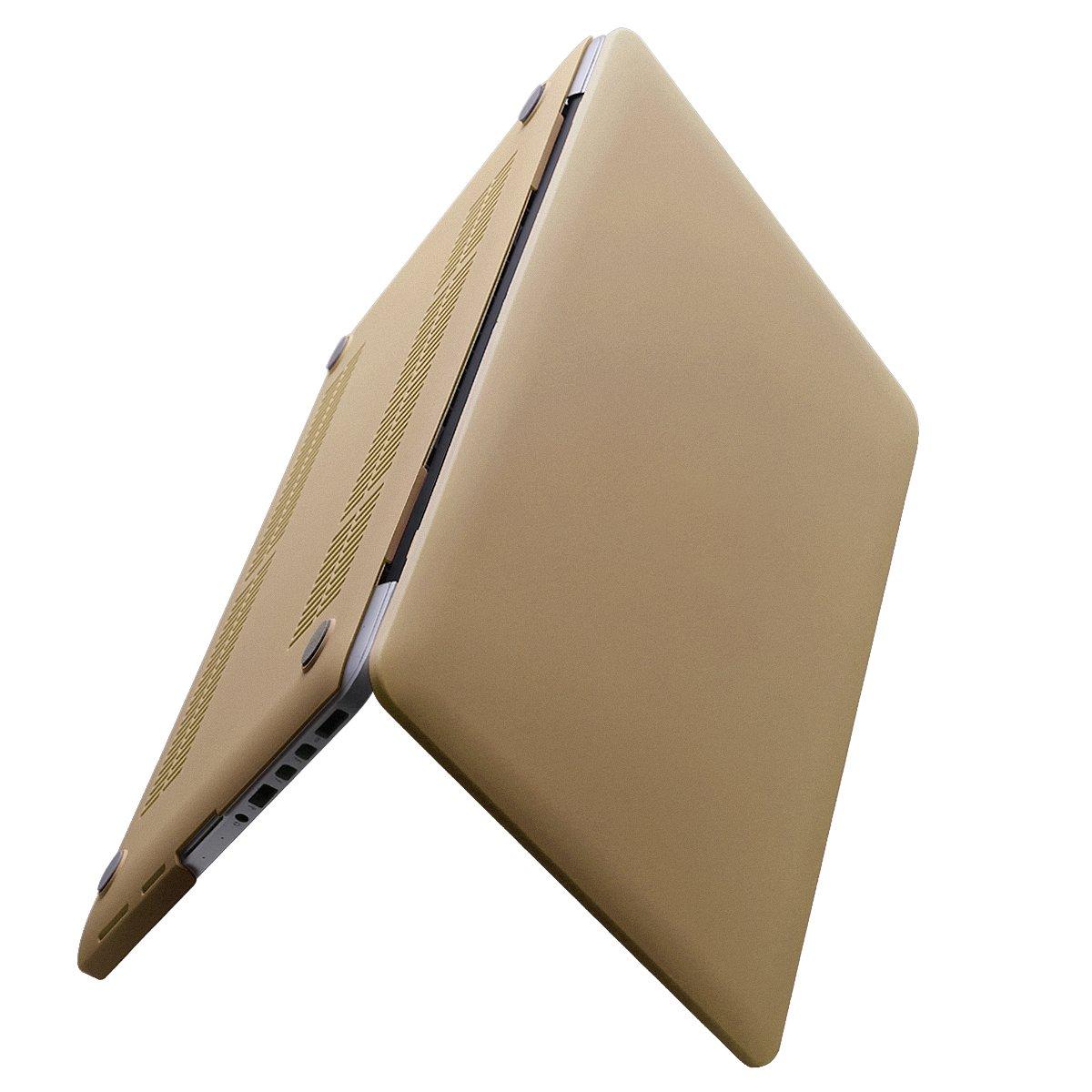 MacBook Pro 13 Retinaケース(CD-ROMドライブなし) - MacBook Pro用SoundmadスムーズソフトPUレザーコートハードシェル保護ケースカバーRetinaディスプレイ付き13.3インチ (Macbook Retina 13 inch, Gold) B072SL9W7R Gold Gold