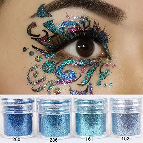 NICOLE DIARY 16 Boxes Colorful Nail Chunky Glitter Dazzling Hexagon Sequins Tips Iridescent Flakes for Nail Hair Face Art Makeup by NICOLE DIARY (Image #2)