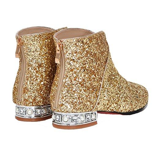 ENMAYER - Botas Chelsea mujer dorado