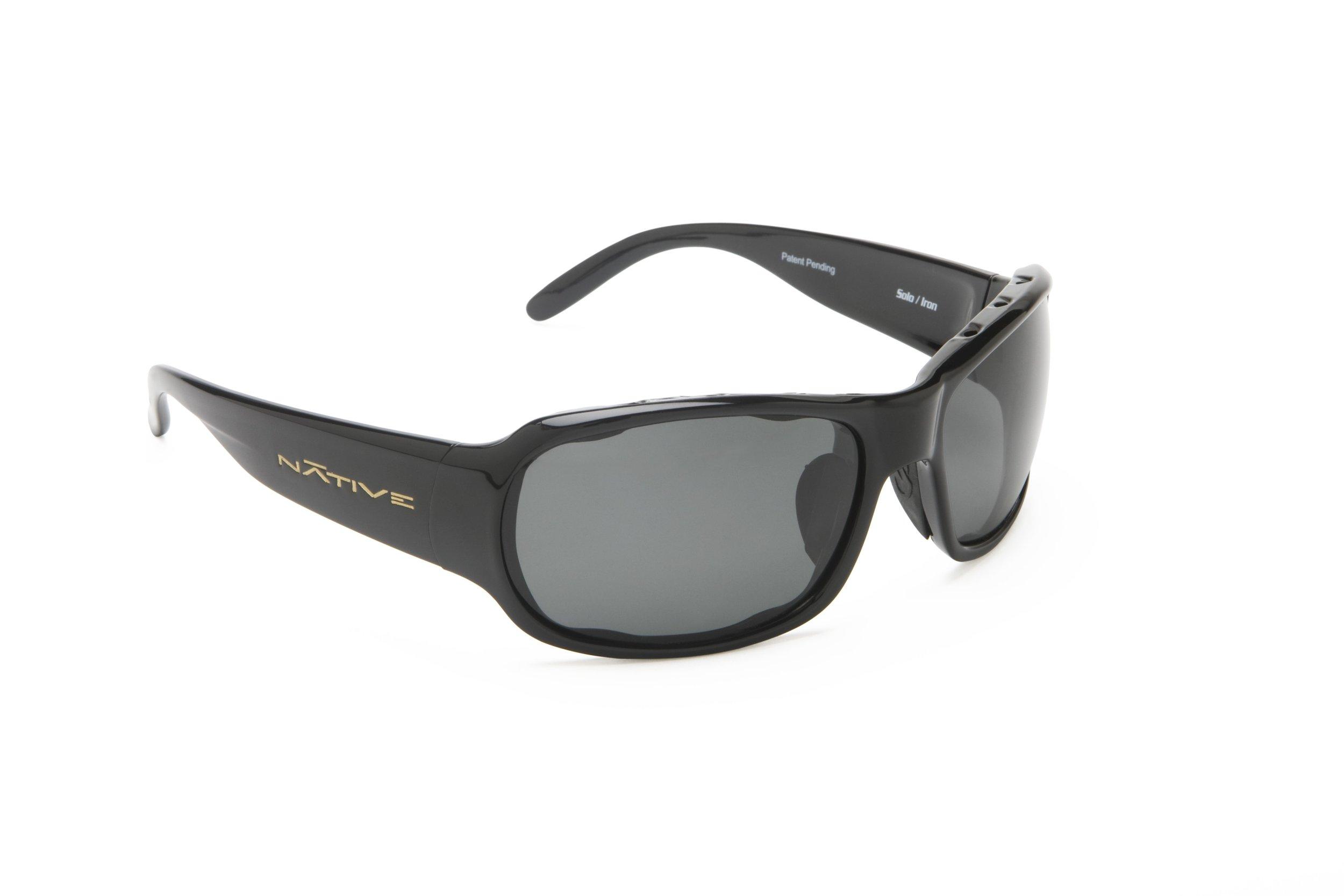 Native Eyewear Solo Sunglasses, Iron with Gray Lens