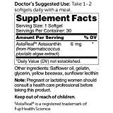 Dr Whitaker039s Astaxanthin 6mg Supplement Provides Antioxidant Support for Eye Skin Cardiovascular and Immune Health 30 Softgels 30-Day Supply Discount
