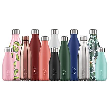 CHILLYS - Botella Termo de Acero Inoxidable, Plata, 1.8 L