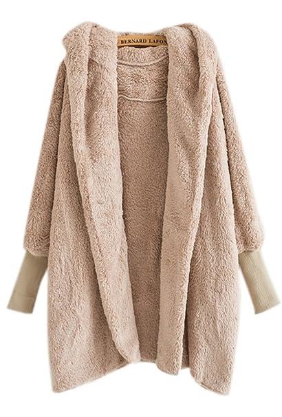 Amazon.com: De la Mujer gruesa de invierno cálido chamarra ...