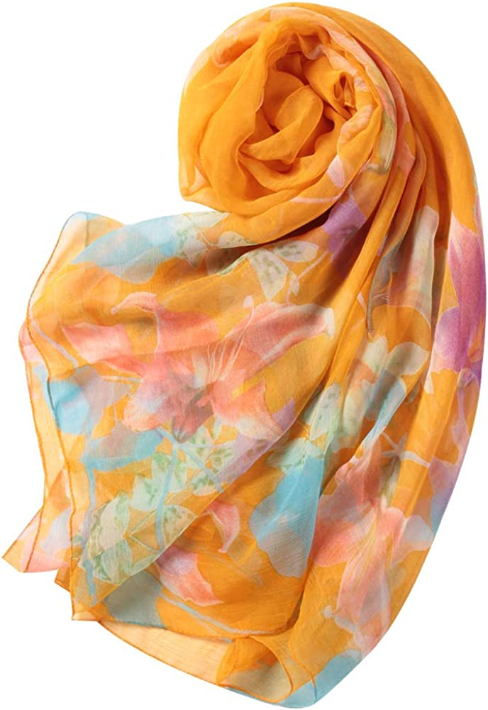 WAMSOFT Scarf Floral/Solid...