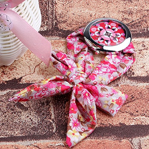 Tonsee Floral Fabric Band Womens Wrist Watch Pink