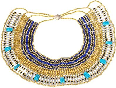 Cleopatra Egyptian Collar Necklace Design Costume Accessories Halloween  sc 1 st  Amazon.com & Amazon.com: Cleopatra Egyptian Collar Necklace Design Costume ...