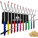 M MCIRCO Marshmallow Roasting Sticks,Set of 12 Pack 45'' Telescoping Smores Skewers Hot Dog Extending Stainless Steel Forks f