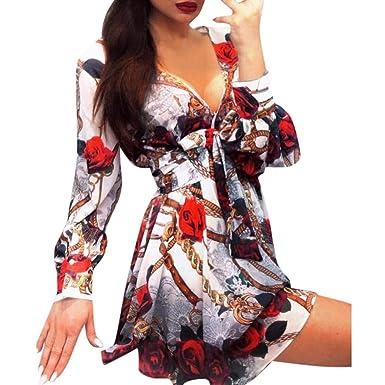 Broadwage Vestido De Mujer Vestido Bohemio De Fiesta Suelto ...
