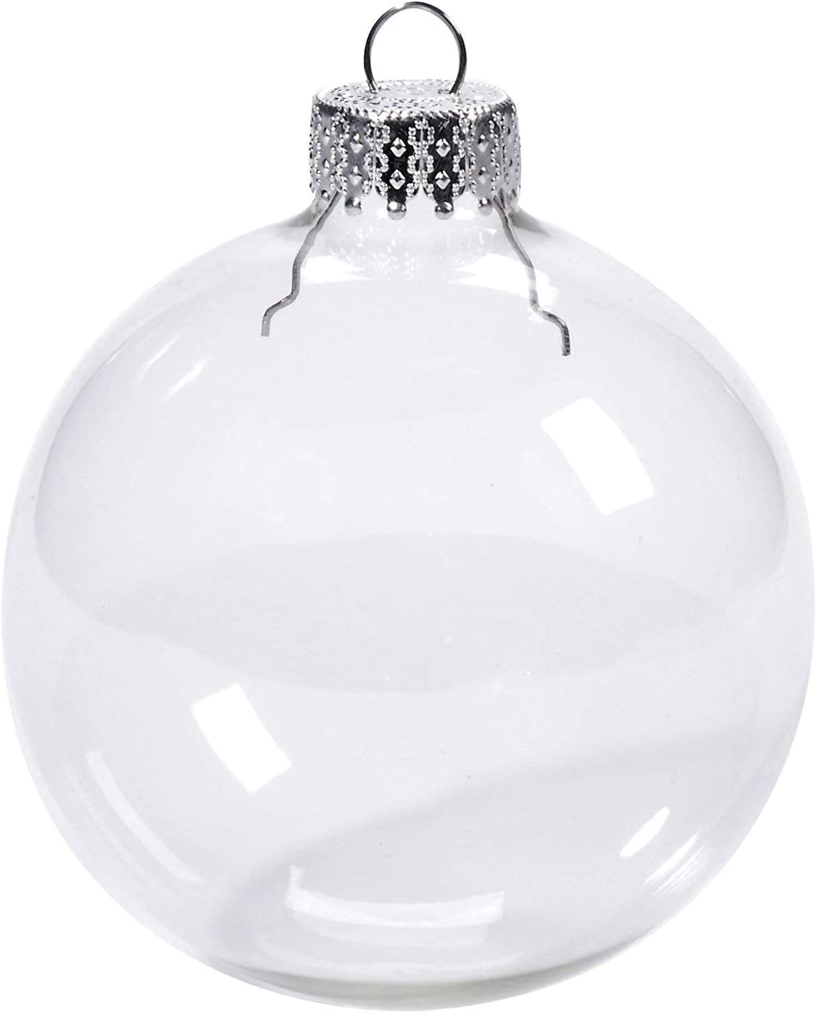 Darice 2610-42 6-Piece Heavy Duty Glass Balls Clear Glass 70mm