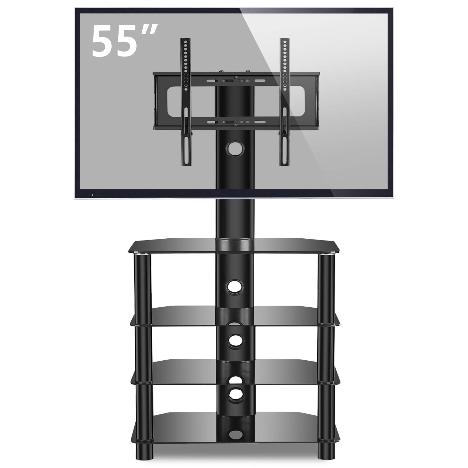 Amazon Com Tavr 4 Tiers Media Component Tv Stand With Mount Audio