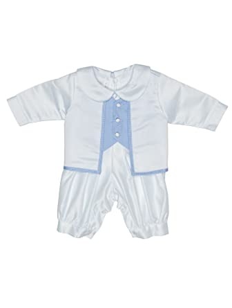 0f436be83 Coco Bebe Baby Boys Romper Suit, Baby Boys Christening Outfit, Boys  Christening Suit, 0-18 Months: Amazon.co.uk: Clothing