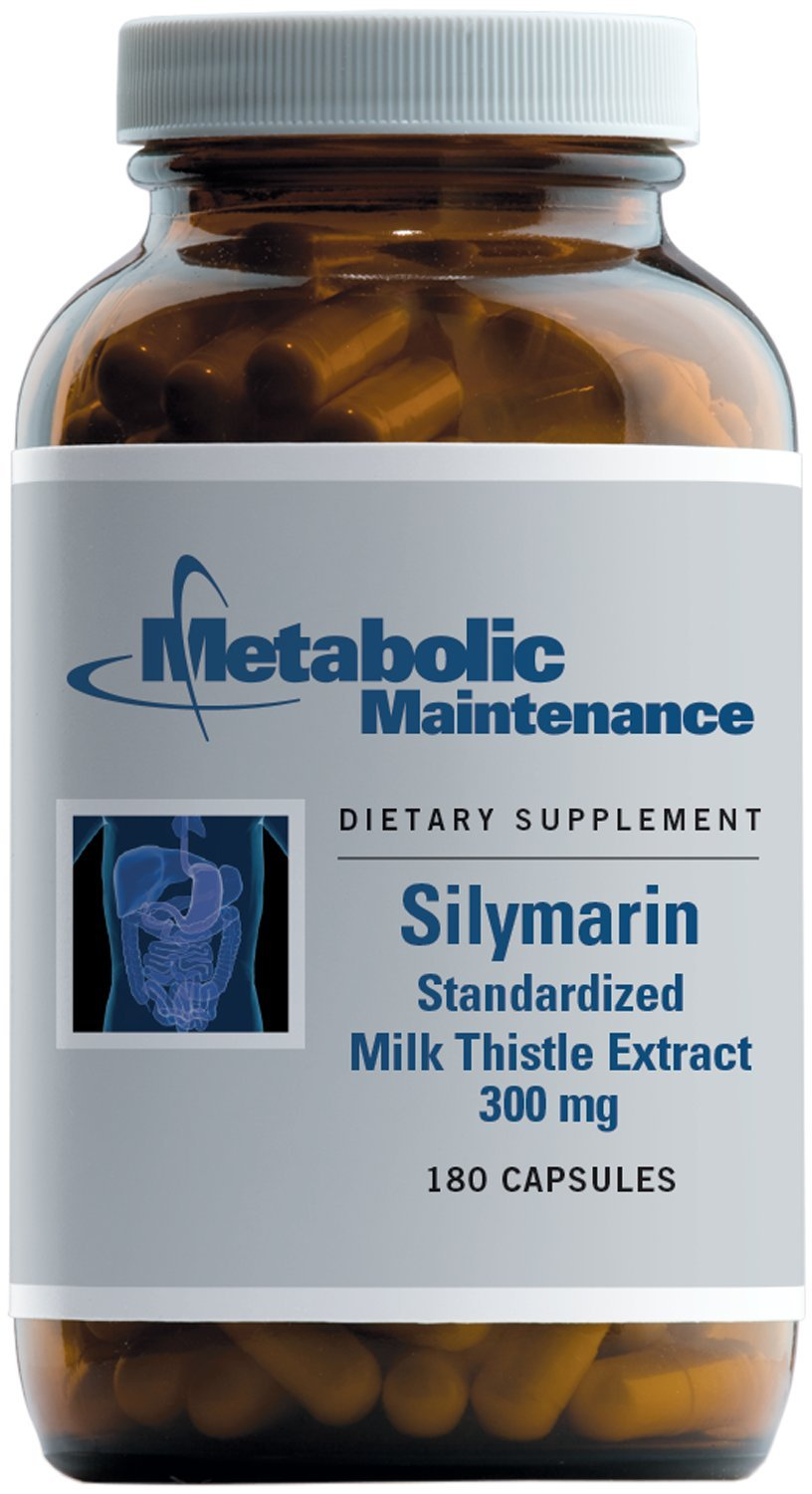 Metabolic Maintenance Silymarin – 300 Milligrams Standardized 80 Milk Thistle for Liver Support 180 Capsules