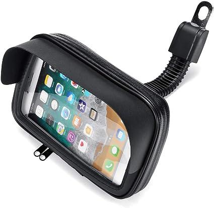 C-FUNN Impermeable Teléfono Celular Titular Bolsa Motocicleta Bicicleta GPS Bicicleta Espejos Caso De Instalación: Amazon.es: Coche y moto