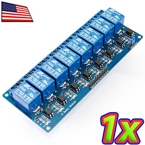 UPGRADE INDUSTRIES [1x] 8 Channel 240V 10A Relay Module Board and Shield AC DC Arduino Raspberry Pi by UPGRADE (240v Shield)