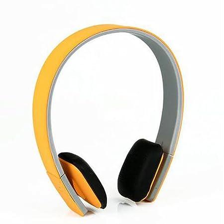 LQQAZY Auriculares Inalámbricos Modo De Cableado De Soporte Control De Volumen Juegos MP3 / Móvil / TV Auriculares,Orange: Amazon.es: Electrónica
