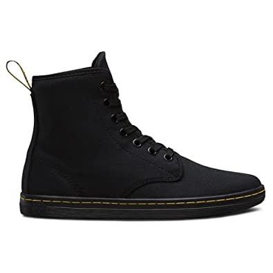 c5e6434796ee1 Dr.Martens Womens Shoreditch 7 Eyelet Black Canvas Black Canvas Boots 6 US