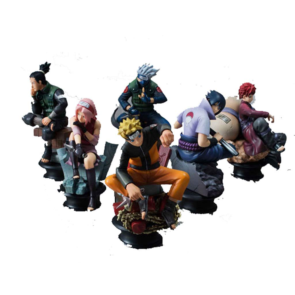 SYDDP Anime Toys Anime Character Model Naruto Statue Model Doll Collection/Birthday Gift - PVC Model Adult Children's Toys (6PCS) Anime Toy Models