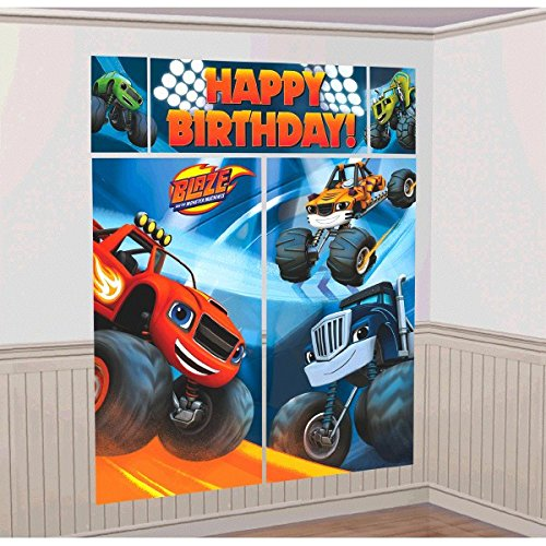 Amscan Blaze and the Monster Machines Wall Decoration Kit ()