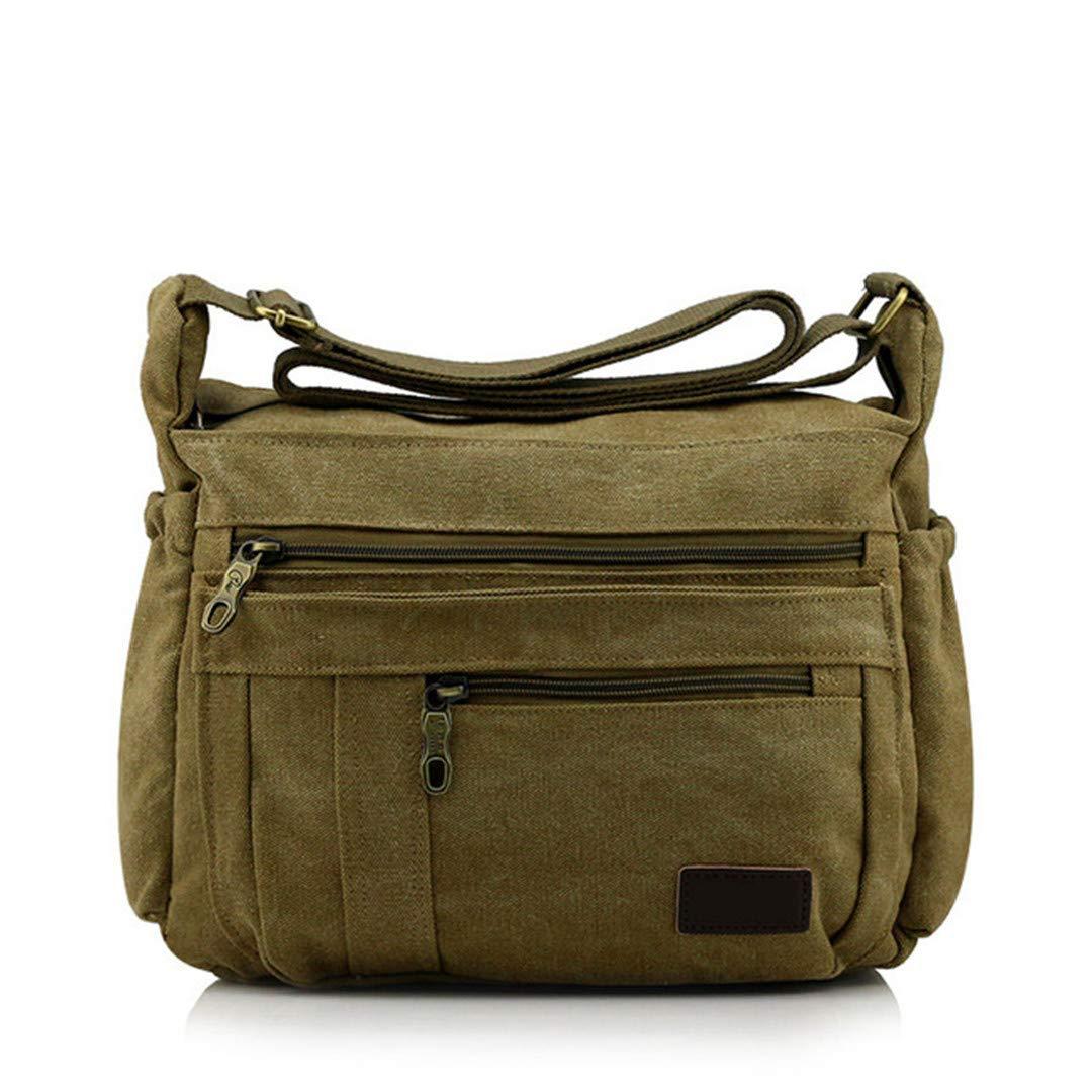 Men Canvas Bag Shoulder Handbag Retro Leisure Messenger Bag black