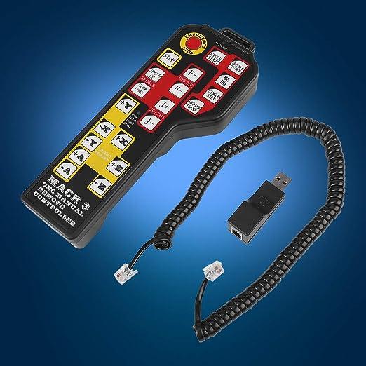 Mach3 4 ejes USB Control Joystick Handle CNC CNC Peque/ña m/áquina de grabado Accesorios