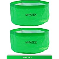 Mipatex Woven Fabric Grow Bags 12in x 6in, Heavy Duty Plant Pot Fruits Vegetable, Terrace Home Kitchen Gardening Bags